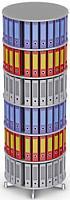Вращающийся стеллаж для папок Moll CompactFile диаметр 80 см, 6 этажей