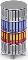 Вращающийся стеллаж для папок Moll CompactFile диаметр 80 см, 4 этажа