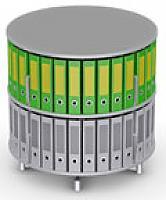 Вращающийся стеллаж для папок Moll MultiFile диаметр 80 см, 2 этажа