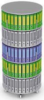 Вращающийся стеллаж для папок Moll MultiFile диаметр 80 см, 5 этажей