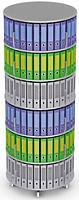 Вращающийся стеллаж для папок Moll MultiFile диаметр 80 см, 6 этажей